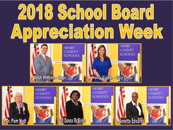 Thank you, Henry County Board of Education