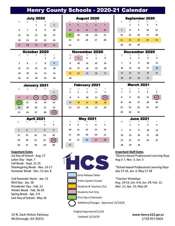 Henry County Schools Calendar 2022 2023.Cobb County Schools Ga Calendar