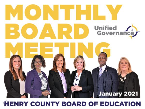 Monthly BOE Meetings - January 2021