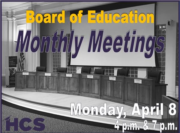 BOE February Meetings - Feb. 11 - 4pm & 7pm