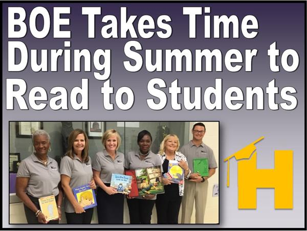 Board of Education Takes Time During Summer to Read to Students