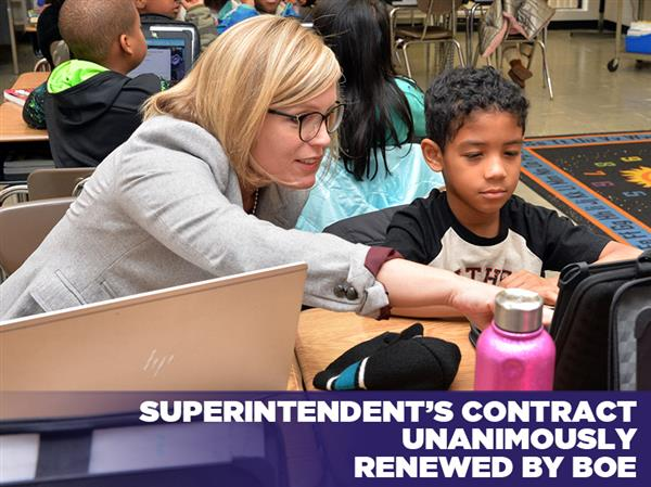 Superintendent's Contract Unanimously Renewed by BOE