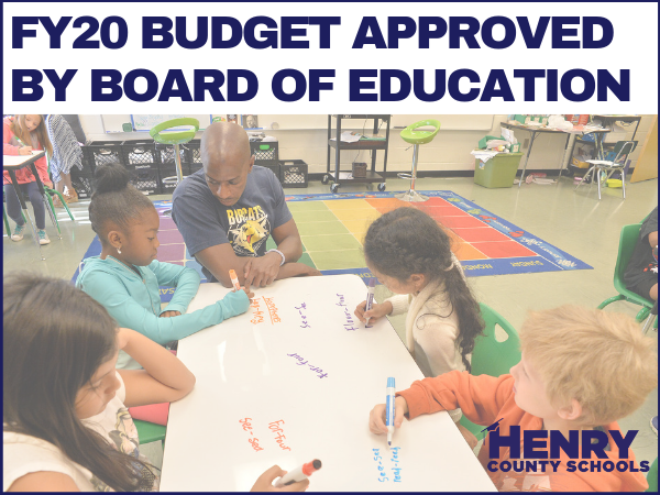 FY20 Budget Approved by Board of Education