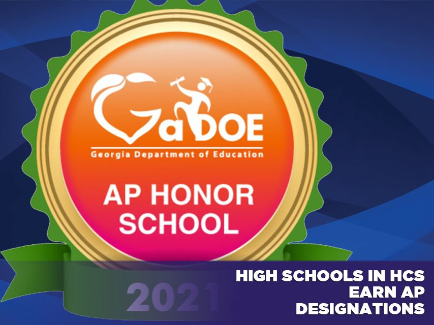 High Schools in HCS Earn AP Honors Designations