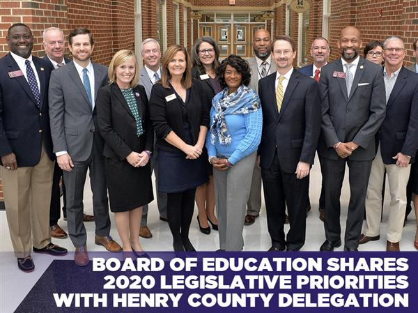 Henry County BOE Shares 2020 Legislative Priorities with Henry County Delegation