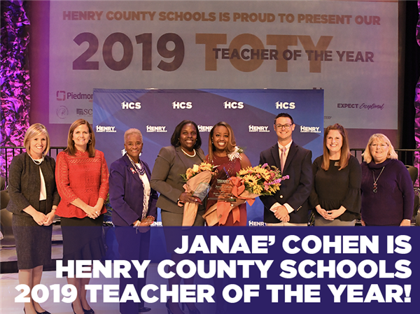 Janae' Cohen is Henry County Schools' 2019 Teacher of the Year