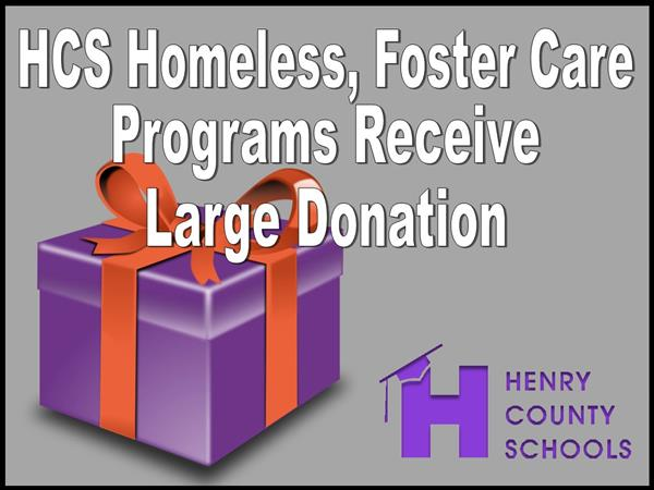 HCS Homeless, Foster Care Programs Receive Large Donation