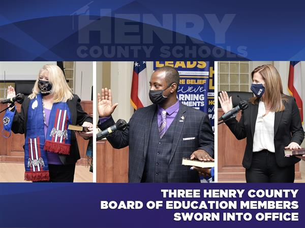 Three Henry County Board of Education Members Sworn into Office