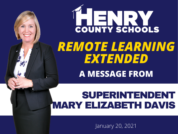 Remote Learning Extended Through Friday, February 5