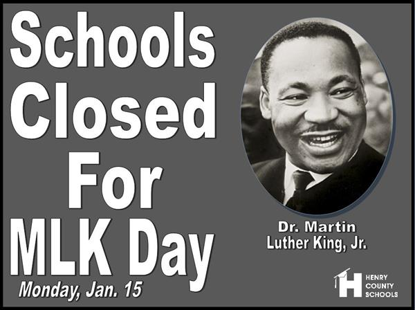 System Closed for MLK Day