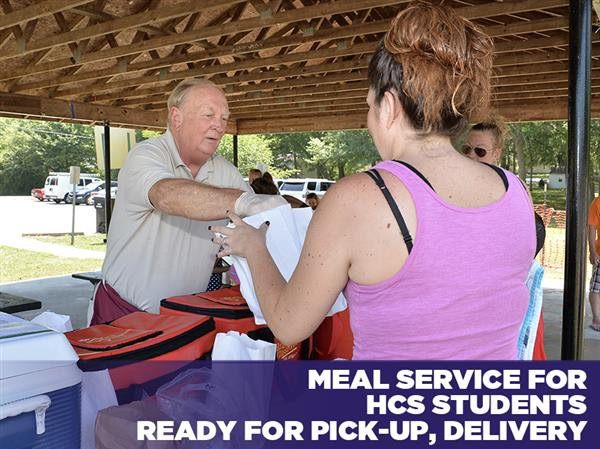 Meal Service for HCS Students Ready for Pick-Up, Delivery