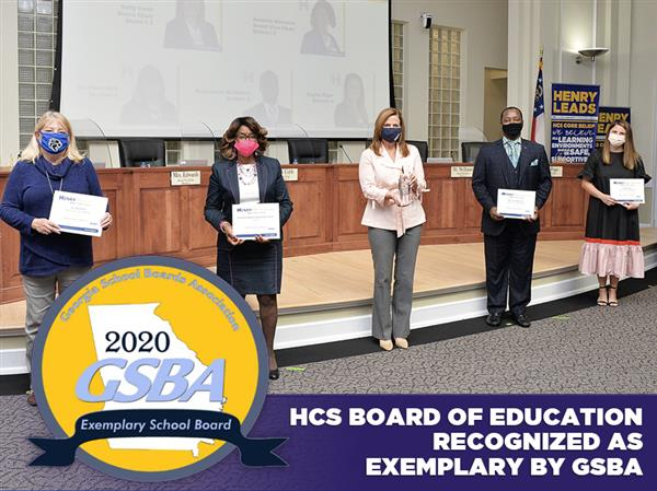 HCS Board of Education Recognized as Exemplary by GSBA