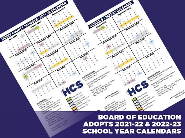 Board of Education Adopts 2021-22, 2022-23 School Year Calendars