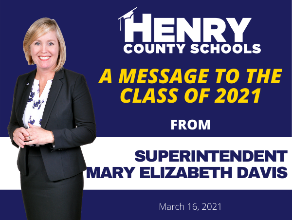 A Message from Superintendent Mary Elizabeth Davis