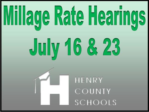 Henry County Board of Education to Host Millage Rate Hearings