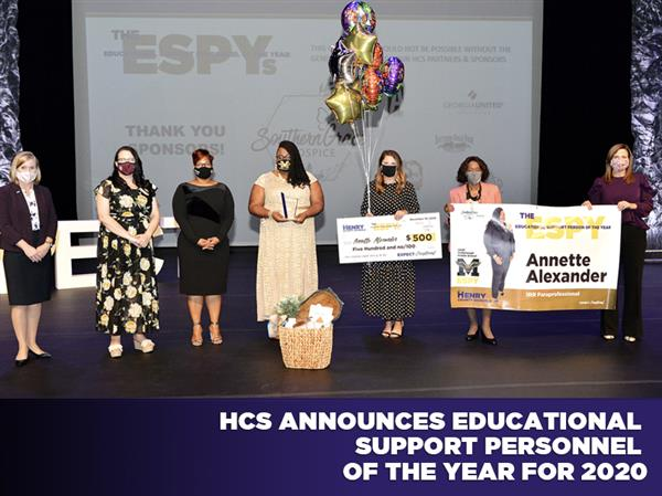 HCS Announces Educational Support Personnel of the Year for 2020