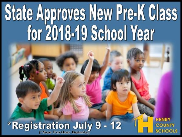 State Approves New Pre-K Class for 2018-19 School Year