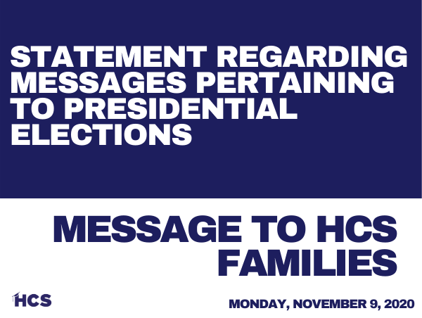 Statement Regarding Messages Pertaining to Presidential Elections