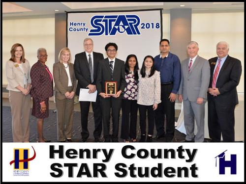 Meet Patel Named Henry County STAR Student