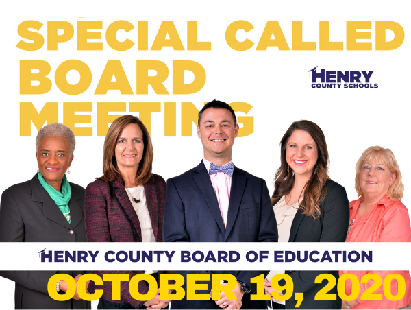BOE Special Called Meeting - October 19, 2020