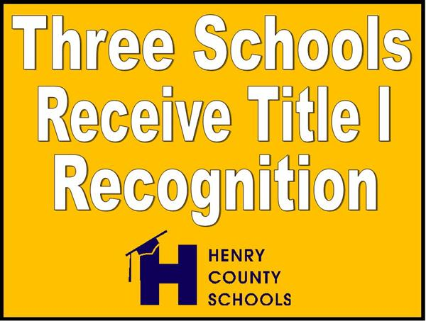 Three Schools Receive Title I Recognition
