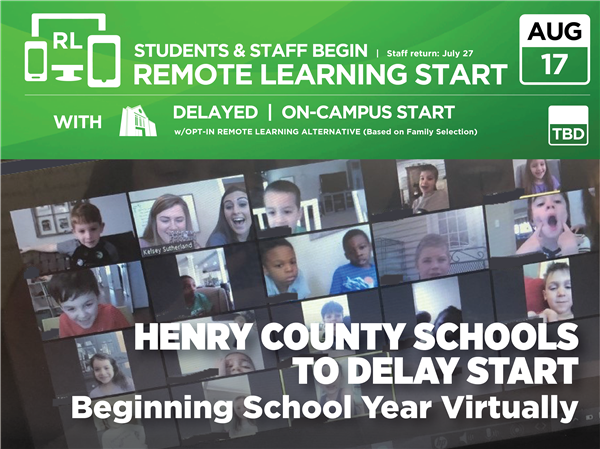Henry County Schools to Delay Start, Begin School Year Virtually