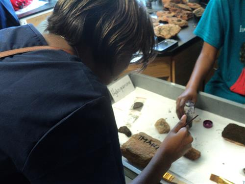 Rock Painting with Birnessite at our STEAM Club