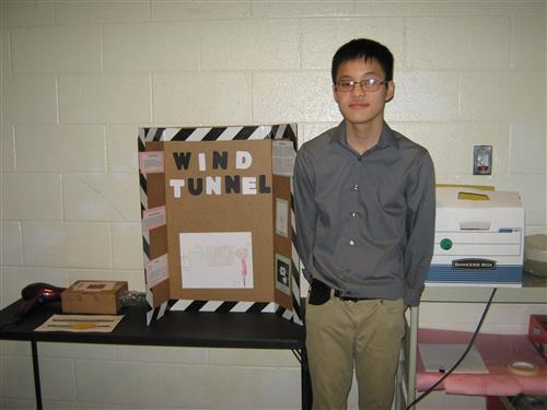 Our member Phong Duong with his Wind Tunnel at the Energy Expo