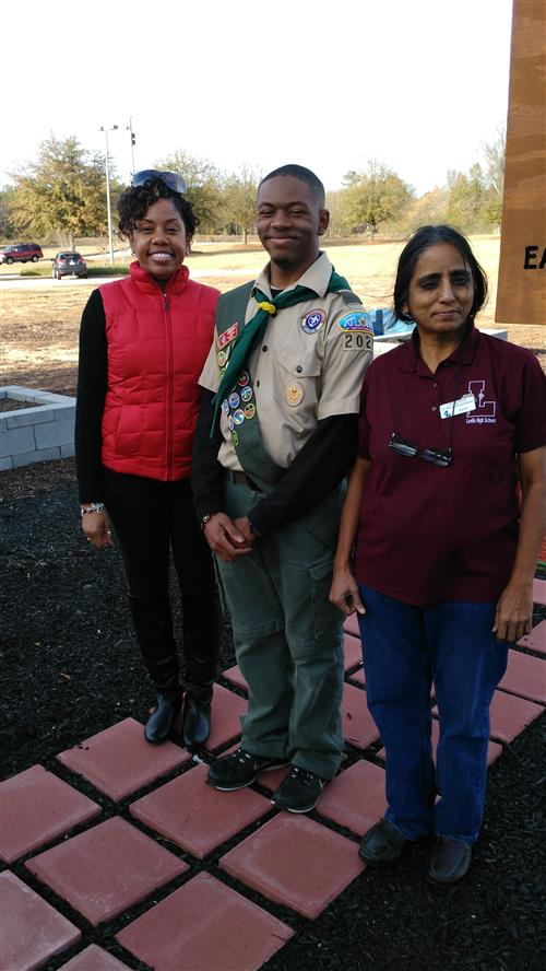 Cebron Williams, A STEAM Club Member Wins the Eagle Scout Project for School Gardening