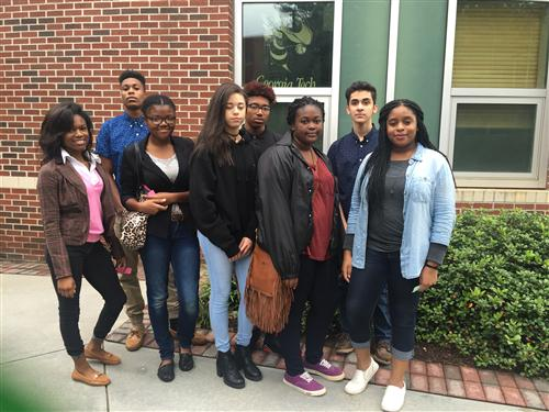 LHS STEAM Club Members at Georgia Institute of Technology