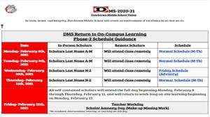 Phase 2 Hybrid Learning Schedule