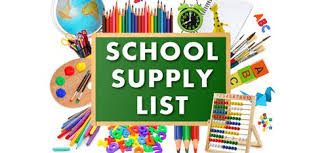 School Supply List ...
