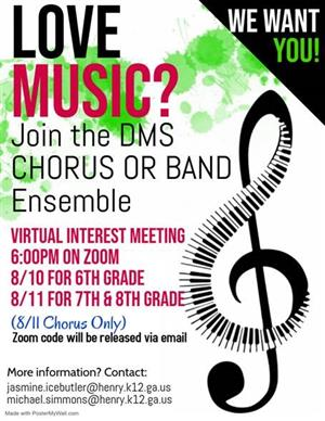 Band and Chorus Virtual Interest Meeting