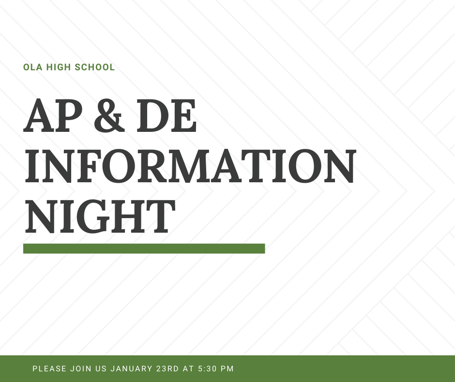 AP & DE INFO NIGHT