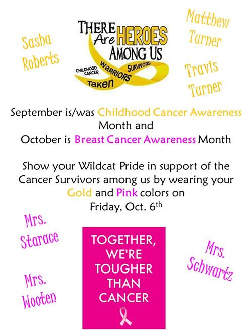 wear pink and gold