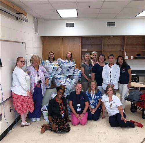 HCS Nurses with Raise Me Up Foundation Donations