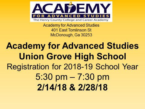 Academy for Advanced Studies Registration