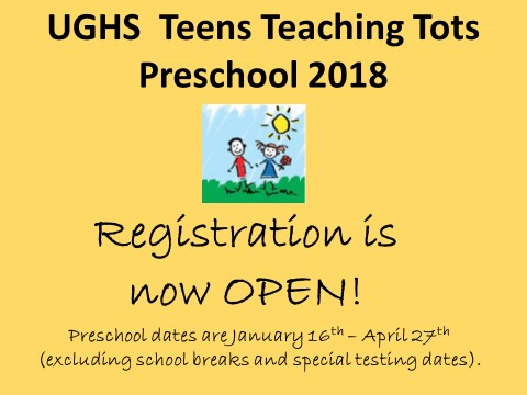 Teens Teaching Tots Preschool Program