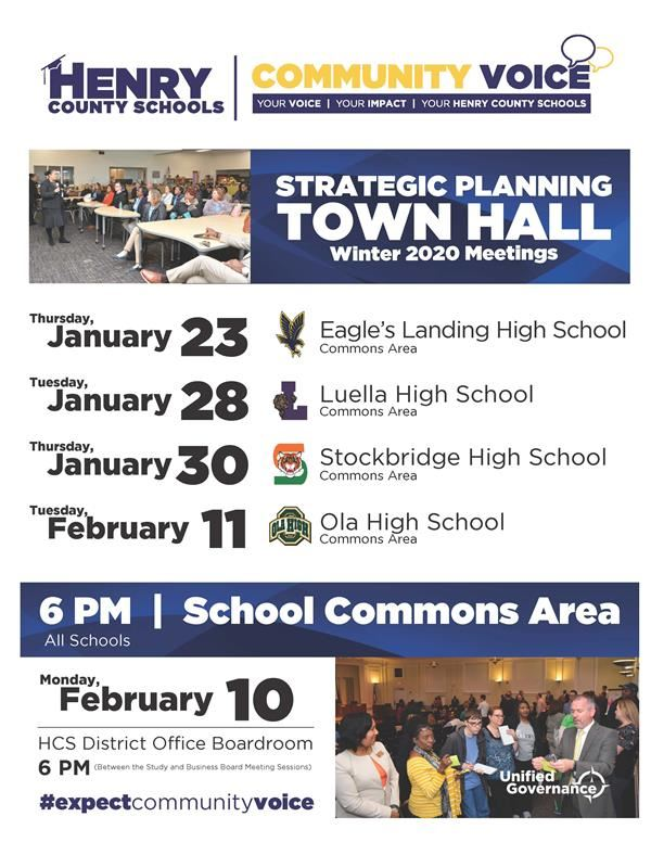 Community Voice - Strategic Planning Town Hall Meetings - 2020