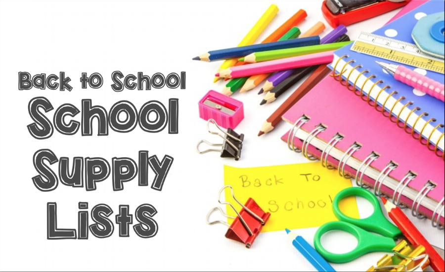 School Supply List for 2018-19