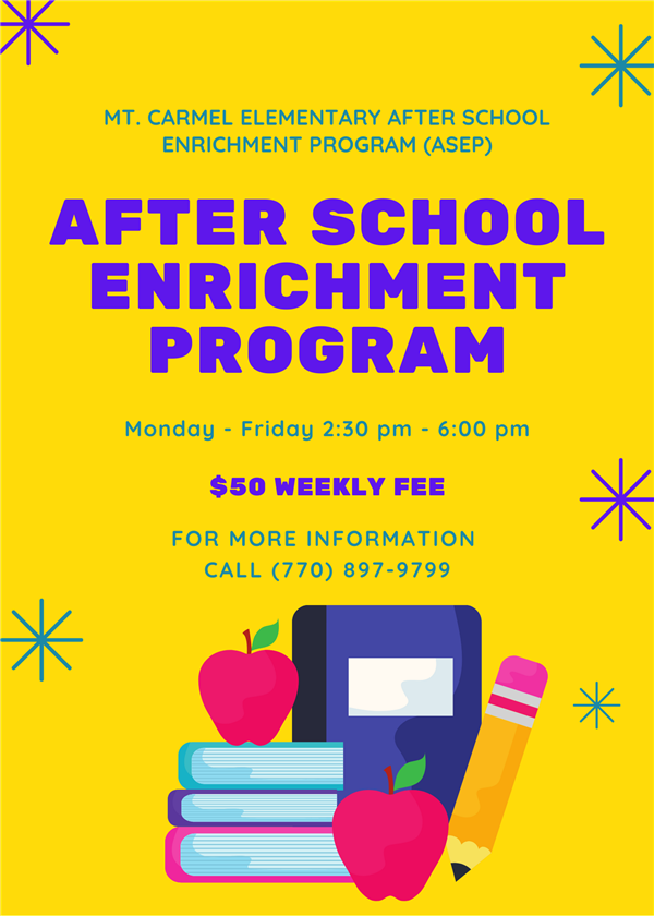 After School Enrichment Program (ASEP) Enrollment Form