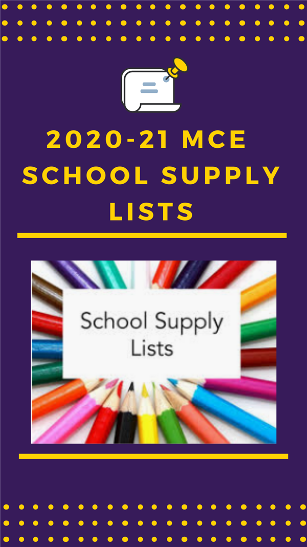 Grade Level Supply Lists!