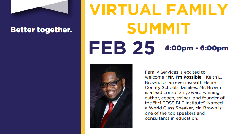 Virtual Family Summit Details ~ February 25th