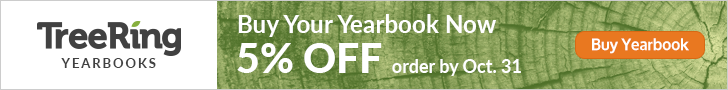 Yearbooks are on Sale - 5% early purchase discount has been extended until November 18th.