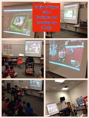 Skyping with 1st Grade