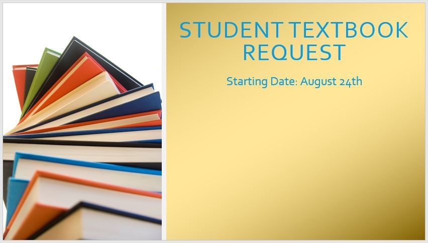 Click here for Student Textbook Request