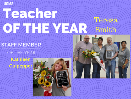 Congratulations to Teacher of the Year Teresa Smith & Employee of the Year, Ms Culpepper.