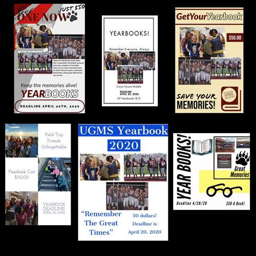 Yearbooks, $50 until April 27, 2020.