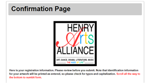 Confirmation Page Header