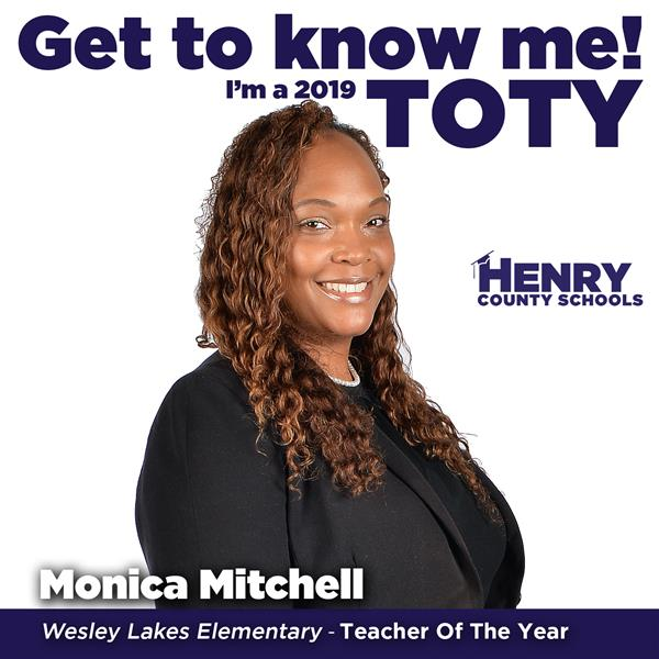 Teacher of the Year - Monica Mitchell